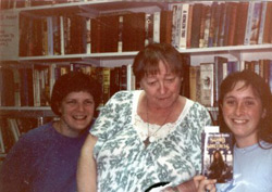 The author (far right), much younger, with Lisa Waters and Marion Zimmer Bradley.